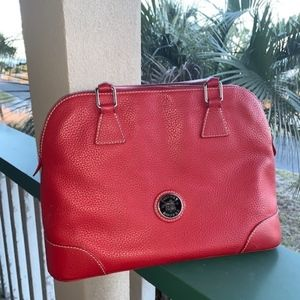 Dooney & Bourke Red Leather Bowler Bag